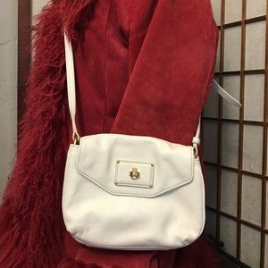 Marc by Marc Jacobs white leather crossbody Bag